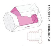 hexagonal dispenser box with... | Shutterstock .eps vector #346357331