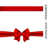red ribbon bow horizontal... | Shutterstock .eps vector #346366805