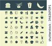 food  drinks  grocery  icons ... | Shutterstock .eps vector #346369391