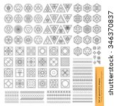 set of minimal  geometric... | Shutterstock .eps vector #346370837