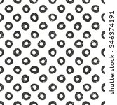 vector hand drawn dots pattern. ... | Shutterstock .eps vector #346374191