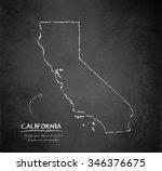 california map blackboard... | Shutterstock .eps vector #346376675
