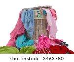 a hamper full of dirty laundry. ... | Shutterstock . vector #3463780