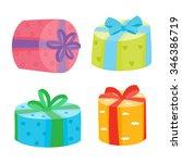 christmas or birthday presents... | Shutterstock .eps vector #346386719
