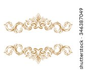 premium gold vintage baroque... | Shutterstock .eps vector #346387049