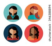 young people avatar silhouette... | Shutterstock .eps vector #346388894