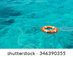 A Life Buoy In The Sea