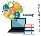 education and knowledge graphic ... | Shutterstock .eps vector #346390361