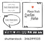 quotes templates   hand drawn... | Shutterstock .eps vector #346399535