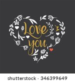 love you   valentine's... | Shutterstock .eps vector #346399649