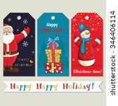 beautiful greeting tags with... | Shutterstock .eps vector #346406114