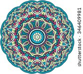 ornament color card with... | Shutterstock .eps vector #346409981