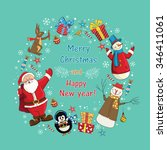 greeting card  christmas card... | Shutterstock .eps vector #346411061