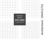seamless pattern  set of dot... | Shutterstock .eps vector #346411721