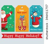 beautiful greeting tags with... | Shutterstock .eps vector #346411757