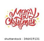 merry christmas calligraphic... | Shutterstock . vector #346419131