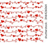 border of silhouettes of hearts ... | Shutterstock .eps vector #346426064