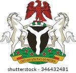 nigeria coat of arms | Shutterstock .eps vector #346432481