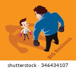 businessman boxing against a... | Shutterstock .eps vector #346434107