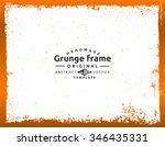 grunge frame   abstract texture ... | Shutterstock .eps vector #346435331