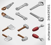 tool collection including... | Shutterstock .eps vector #346439351