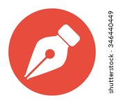 ink pen icon isolated on red... | Shutterstock .eps vector #346440449