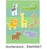 baby zoo scrapbook style | Shutterstock .eps vector #34644067