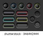 dark user interface vector...