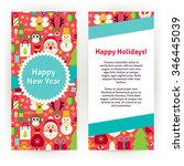 flyer template of happy new... | Shutterstock .eps vector #346445039