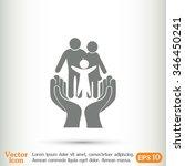 family life insurance sign icon.... | Shutterstock .eps vector #346450241