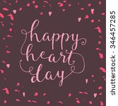 vector illustration happy heart ... | Shutterstock .eps vector #346457285