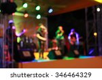 blur musician band who play on... | Shutterstock . vector #346464329