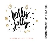 christmas greeting card with... | Shutterstock .eps vector #346465781