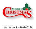 merry christmas greeting card ... | Shutterstock .eps vector #346468154