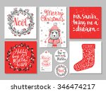 et of creative christmas hand... | Shutterstock .eps vector #346474217