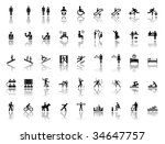 large set of people related... | Shutterstock . vector #34647757
