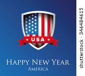 happy new year america | Shutterstock .eps vector #346484615