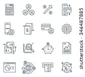 business and finance icon set... | Shutterstock .eps vector #346487885