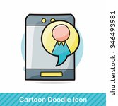 cell phone doodle | Shutterstock .eps vector #346493981
