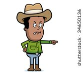 cowboy angry | Shutterstock .eps vector #34650136