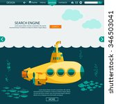 submarine undersea flat design. ... | Shutterstock .eps vector #346503041