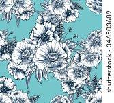abstract elegance seamless...   Shutterstock . vector #346503689