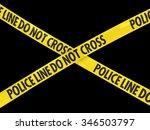 police line do not cross tape... | Shutterstock . vector #346503797