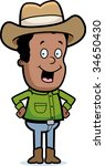 cowboy smiling | Shutterstock . vector #34650430