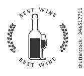 best wine design  vector... | Shutterstock .eps vector #346517711