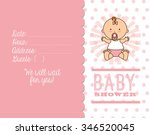 baby shower design  vector... | Shutterstock .eps vector #346520045