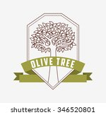 olive tree design  vector...