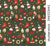 christmas pattern. vector | Shutterstock .eps vector #346523441