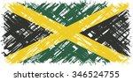 jamaican grunge flag. vector... | Shutterstock .eps vector #346524755