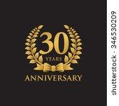 30 years anniversary wreath...   Shutterstock .eps vector #346530209